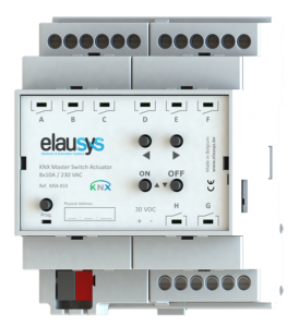 ELAUSYS MSA-810 - KNX Switch Actuator 8x10A